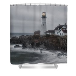 Portland Head Nor'easter Shower Curtain