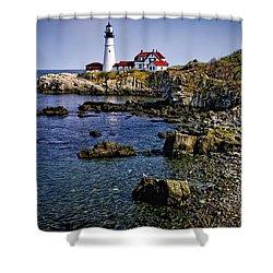 Portland Headlight 36 Shower Curtain by Mark Myhaver