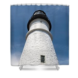 Portland Headlight IIi Shower Curtain