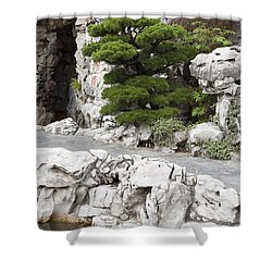 Portland Lan Su Gardens Shower Curtain by Peter French