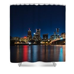 Portland Oregon Nightscape Shower Curtain