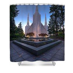 Portland Temple Shower Curtain by Dustin  LeFevre