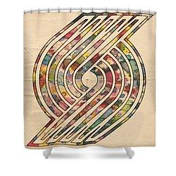 Portland Trailblazers Poster Art Shower Curtain by Florian Rodarte