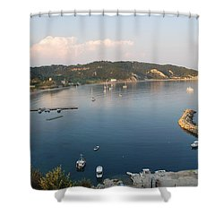 Shower Curtain featuring the photograph Porto Bay by George Katechis
