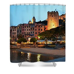 Portovenere At Night Shower Curtain