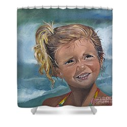 Portrait - Emma - Beach Shower Curtain