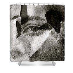 Portrait In Black And White Shower Curtain
