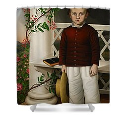 Portrait Of A Boy Shower Curtain by James B Read