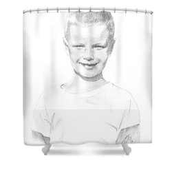 Portrait Of A Boy Shower Curtain