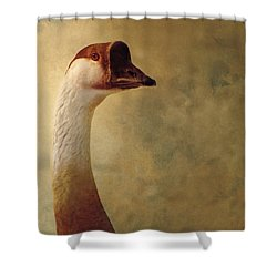 Portrait Of A Goose Shower Curtain