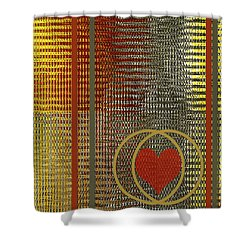 Portrait Of A Heart Shower Curtain by Ben and Raisa Gertsberg