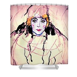 Portrait Of A Lady En Face After Gustav Klimt Shower Curtain
