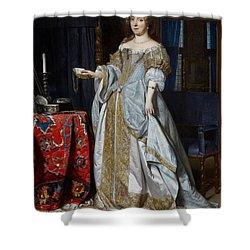 Portrait Of A Lady Shower Curtain by Gabriel Metsu