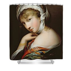Portrait Of A Lady In Eastern Dress Shower Curtain by English School