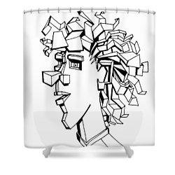 Portrait Of A Man Shower Curtain by Michelle Calkins