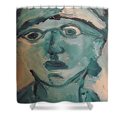 Portrait Of A Man Shower Curtain