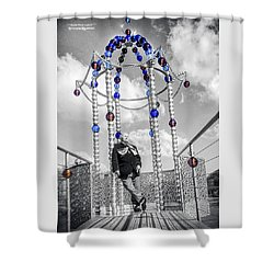 Shower Curtain featuring the photograph Portrait Of A Troubled Grandpa by Stwayne Keubrick
