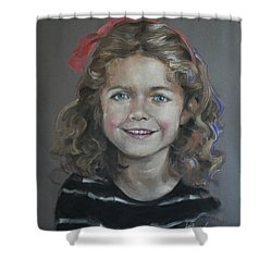 Portrait Of A Young Girl Shower Curtain by Mary Machare