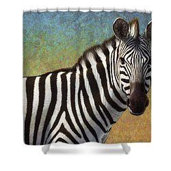 Portrait Of A Zebra Shower Curtain