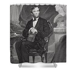 Portrait Of Abraham Lincoln Shower Curtain by Alonzo Chappel