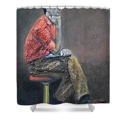 Portrait Of Ali Akrei - The Painter Shower Curtain