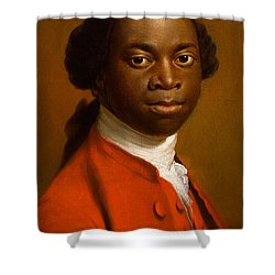 Portrait Of An African Shower Curtain by Allan Ramsay