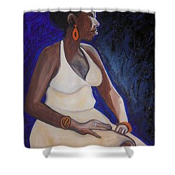 Portrait Of An Ethiopian Woman Shower Curtain by Esther Newman-Cohen