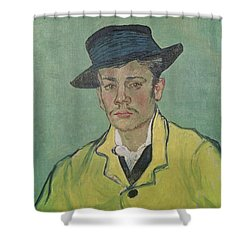 Portrait Of Armand Roulin Shower Curtain by Vincent Van Gogh