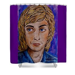 Portrait Of Barry 2 Shower Curtain