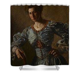 Portrait Of Elizabeth L Burton Shower Curtain by Thomas Cowperthwait Eakins