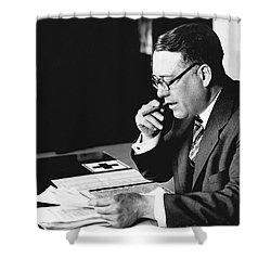 Portrait Of Elmer Irey Shower Curtain by Underwood Archives