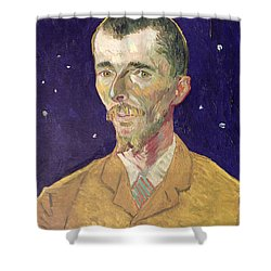 Portrait Of Eugene Boch Shower Curtain by Vincent Van Gogh