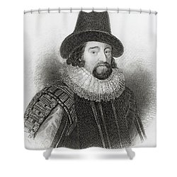 Portrait Of Francis Bacon Shower Curtain by English School