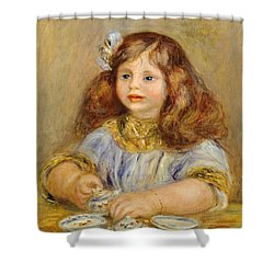 Portrait Of Genevieve Bernheim De Villiers Shower Curtain by Pierre-Auguste Renoir
