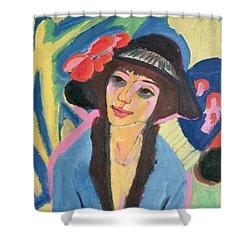 Portrait Of Gerda Shower Curtain by Ernst Ludwig Kirchner