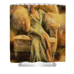 Portrait Of Jean Harlow Shower Curtain