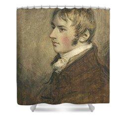 Portrait Of John Constable Aged Twenty Shower Curtain by Daniel Gardner
