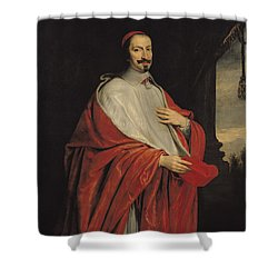 Portrait Of Jules Mazarin Shower Curtain by Philippe de Champaigne