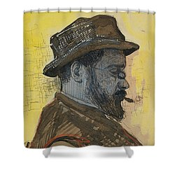 Portrait Of Maximilien Luce Shower Curtain by Paul Signac