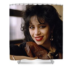Portrait Of Ofra Haza Shower Curtain