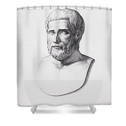 Portrait Of Pythagoras Shower Curtain by CC Perkins