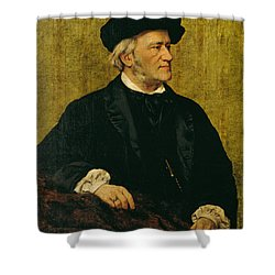 Portrait Of Richard Wagner Shower Curtain by Giuseppe Tivoli