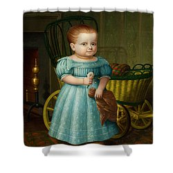 Portrait Of Sally Puffer Sanderson Shower Curtain