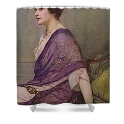 Portrait Of Th Ecourturier Madame Paquin Shower Curtain by Henri Gervex