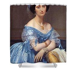 Portrait Of The Princesse De Broglie Shower Curtain by Jean Auguste Dominique Ingres