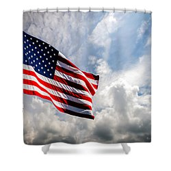 Portrait Of The United States Of America Flag Shower Curtain by Bob Orsillo