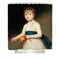 Portrait Of Thomas Allason Shower Curtain by Francis Alleyne