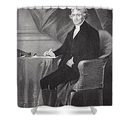 Portrait Of Thomas Jefferson Shower Curtain by Alonzo Chappel