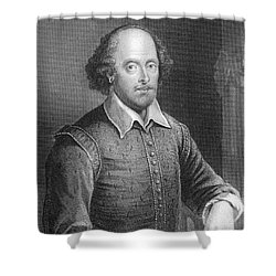 Portrait Of William Shakespeare Shower Curtain by English School