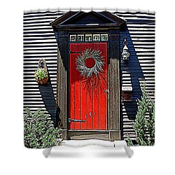 Portsmouth Door 2 Shower Curtain by Kevin Fortier